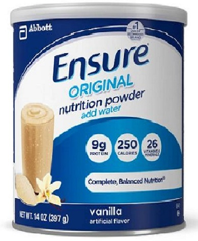 ENSURE Complete Balanced Nutrition Powder, Vanilla shake